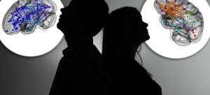 The illustration shows the silhouette of a woman and man standing back-to-back to each other in Berlin, Germany, 8 January 2013. Photo: Jan-Philipp Strobel