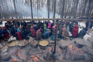 2521780 11/02/2014 Followers of Traditional Mari religion pray in a sacred grove in Novotoryalsky District., Image: 209804141, License: Rights-managed, Restrictions: , Model Release: no, Credit line: Profimedia, Sputnik